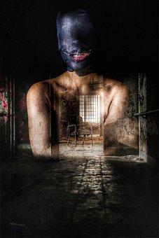 Mask, Gimp, Scary, Horror, Woman, Creepy, Evil, Dark