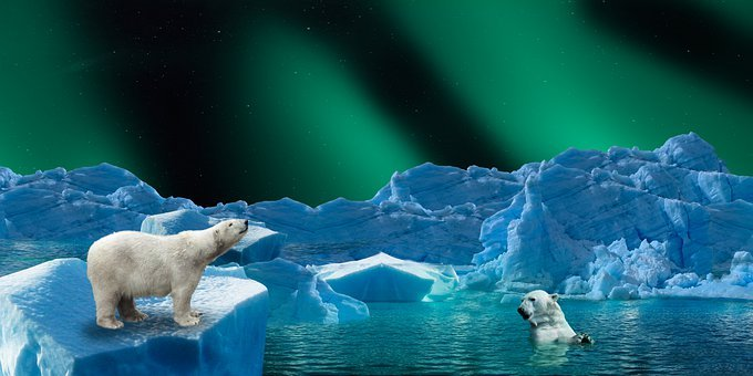 Background, Nature, Ice, Arctic, Northern Lights