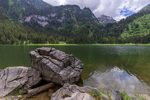 Voralpsee, Mountains, Lake, Nature, Landscape, Alpine