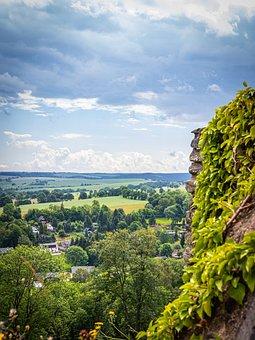 Landscape, Elbe Sandstone Mountains, Germany, Nature