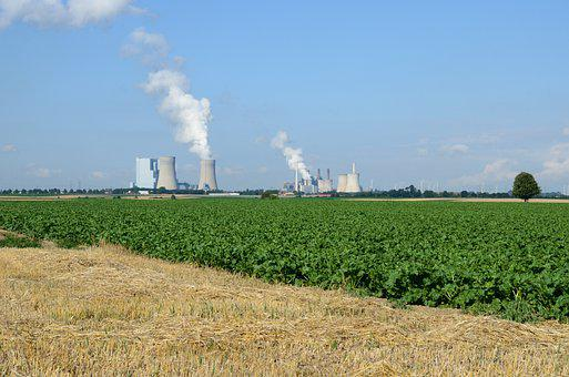 Landscape, Field, Agriculture, Power Plant, Nature
