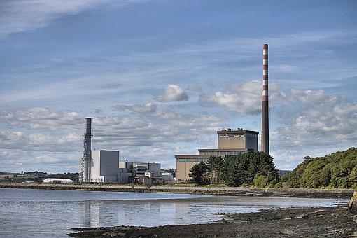 Power Station, Landscape, Electricity, Industrial, Sky
