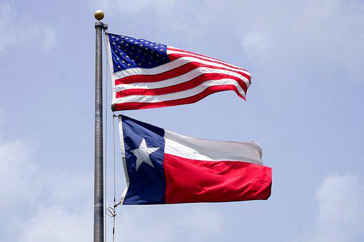 Texas, State, Flag, Banner, Usa, America, Lone Star
