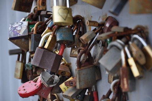 Padlocks, Sweethearts, Para, Protection, Love, Bridge