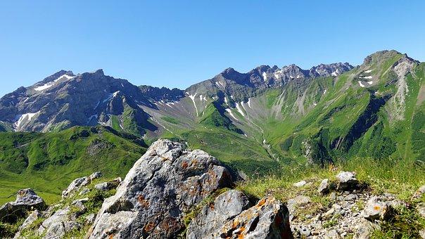 Mountain Landscape, Summer, Alpine, Malbun