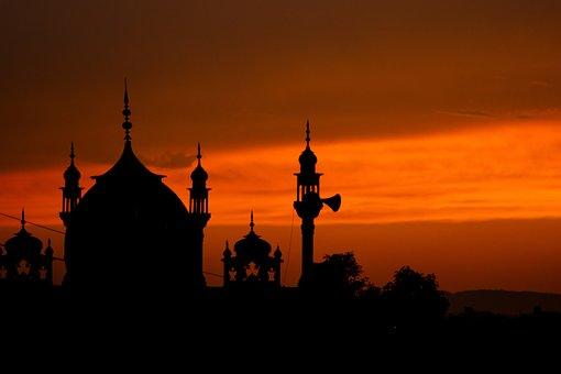 Mosque, Silhouette, Islam, Muslim