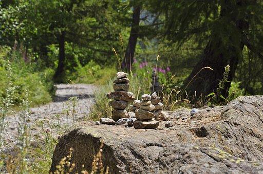 Mountain, Trail, Waymark, Nature, Trekking, Mountains