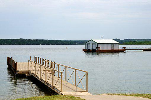 Pier, Lake, Possum Kingdom, Texas, Water, Nature