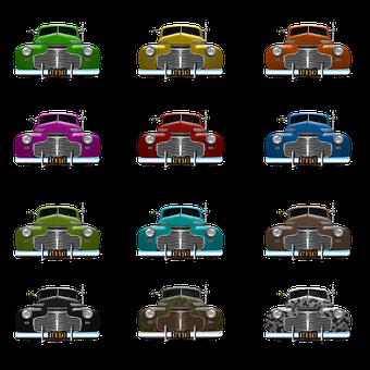 Car, American, Old, Chevrolet, 1941, Colorful, Kokelma