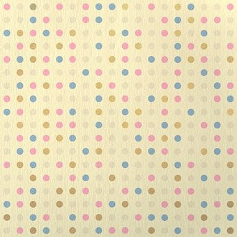 Dots, Pattern, Beige, Colorful, Background