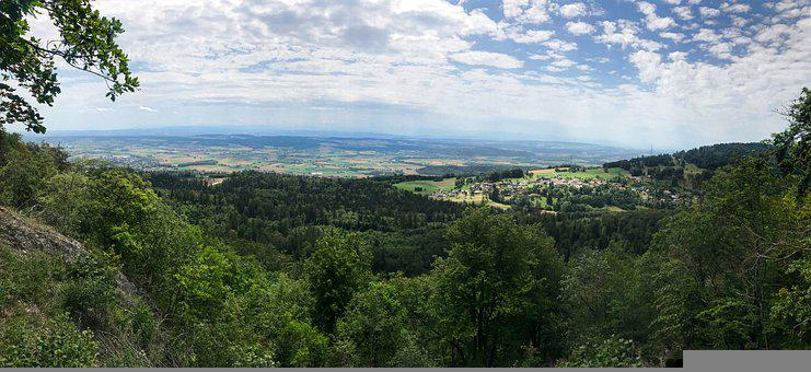 Panorama, Romont, Bern, Foresight, Village, Jura
