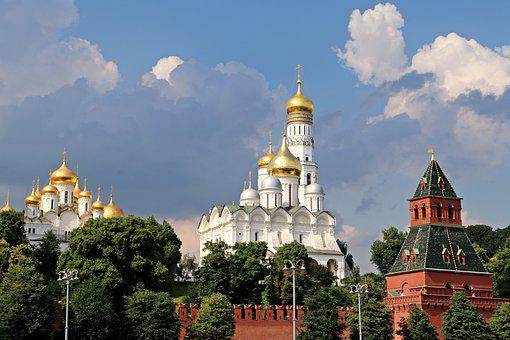 Moscow, The Kremlin, Capital, Dome, Gold, Russia