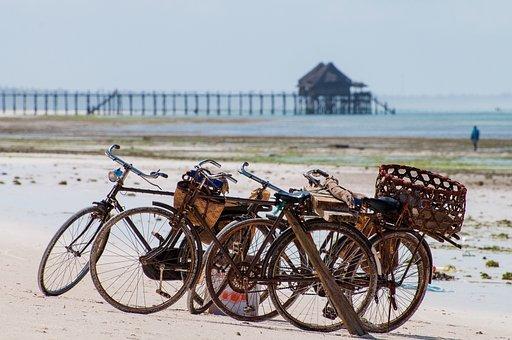 Bicycle, Ocean, Port, Vacation, Beach, Coast, Sea