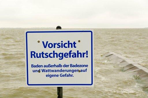 Sea, Swim, Risk Of Slipping, Beach, Vacations, Water