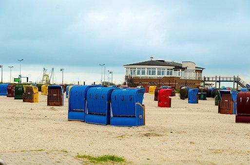 Beach, Sea, North Sea, Beach Chair, Water, Sky, Sand