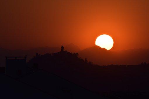 Sunset, Sun, Landscape, Sky, Environment