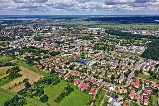 City, Landscape, In Nowy Dwór Mazowiecki, Sky, Summer