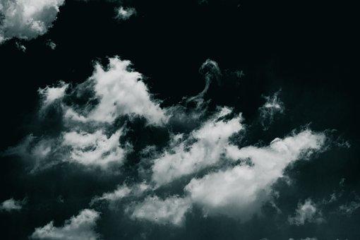 Idyllic, Cyan, Clouds, Landscape, Nature, Summer, Quiet