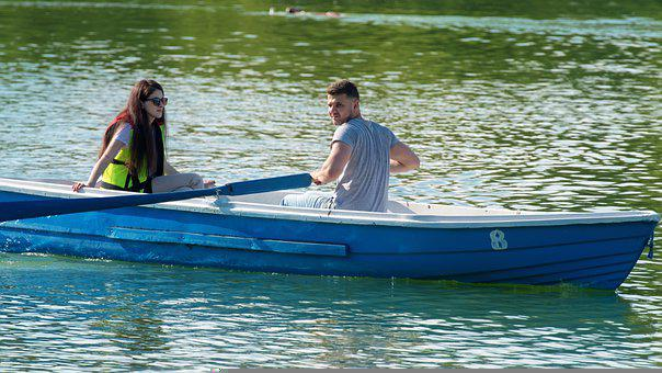 The Young Couple, Girl, Sunglasses, The Boy, Rowing