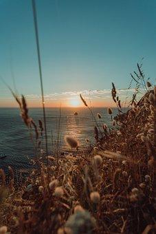Sunset, Horizon, Sunrise, Nature
