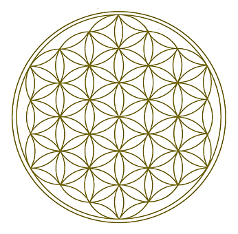 Flower Of Life, Gold, Geometry, Universe, Science, Live