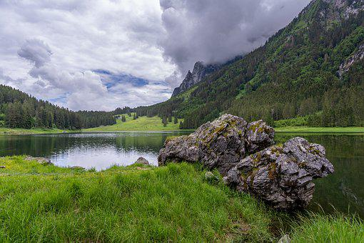 Voralpsee, Mountains, Lake, Nature