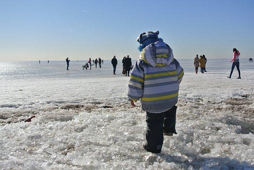 Winter, Gulf Of Finland, Ice, February, Beauty, Stroll