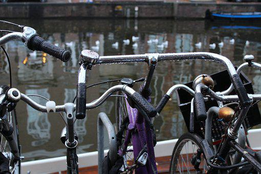 Amsterdam, Canal, Bicycle, City, Holland