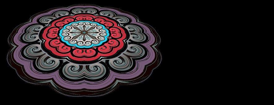 Ornate, Mandala, Art, Header, Banner, Pattern