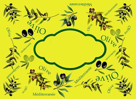 Label, Olive, Mediterranean, Olives, Olive Oil