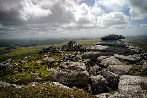 Moody, Moor, Landscape, Sky, Dramatic, Rock, Nature