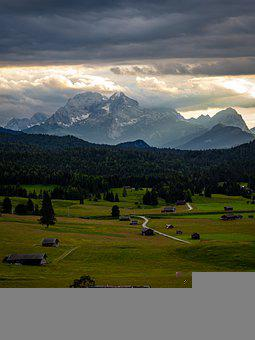 Alpine, Mountains, Landscape, Nature, Meadow, Bavaria