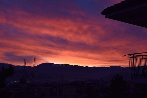 Sunset, Montain, Outdoor, Landscape