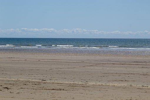 Beach, Sand, Water, Blue, Ocean, Wave, Sky
