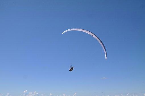 Paragliding, Screen, Flying, Glide, Landscape, Sky
