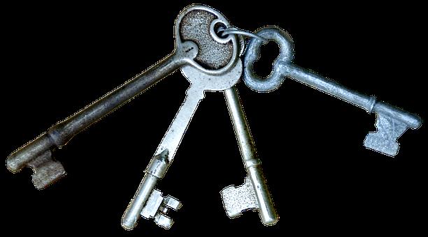 Keys, Cutout, Lock, Skeleton Keys, Keys