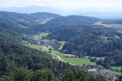 Zurich, Uetliberg, Uto-kulm, View Mountain, Stallikon
