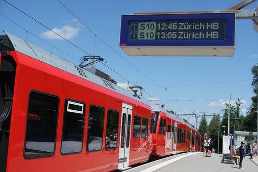 Zurich, Uetliberg, Train, View Mountain