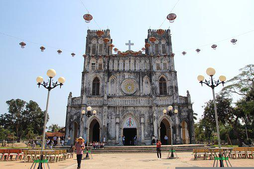 Vietnam, Asia, Church, Travel, Architecture, Tourism