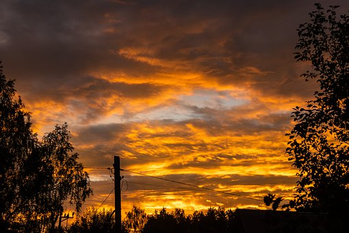 Sunset, Sky, Clouds, Nature, Air, Atmosphere, Summer