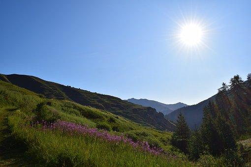 Nature, Sun, Landscape, Green, Trail, Mountain, Sky