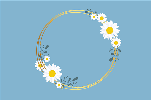 Background, Flower, Vintage, Floral, Blue, Hand, Summer