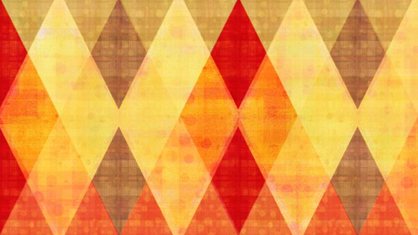 Rhomboid, Rhombus, Checkered, Mosaic, Autumn, Triangles