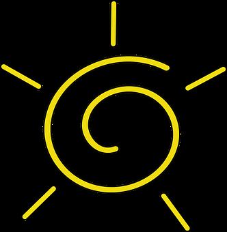 Sun, Yellow, Rays, Swirl, Weather, Hot, Sunshine