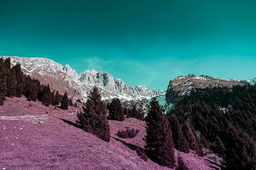 Plain, Mountain, Mountains, Nature, Landscape, Clouds