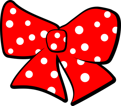 Ribbon, Bow, Red, Spots, Dots, White, Decoration, Hair