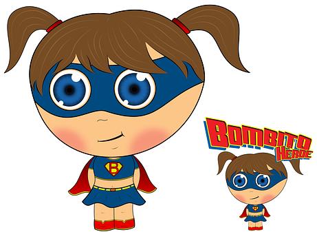 Doll, Heroine, Bombita, Super Heroine, Cartoon