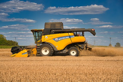 Combine Harvester, Agriculture, Wheat Harvest, Wheat