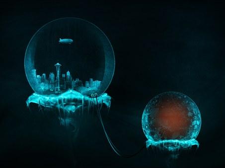 Underwater, City, Ocean, Sea, Science Fiction, Surreal