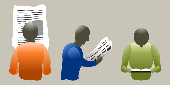 Newspaper, People, Reading, Read, News, Paper, Icon